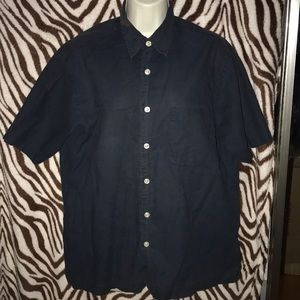 old navy blue button down shirt small